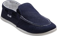 F22 F-22-02-1 Blue Slip-on Casual Shoes
