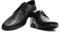 Red Tape Men Genuine Leather Lace Up Shoes Black