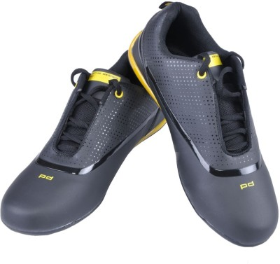 Porsche Design PD Black and Yellow Sports Sneakers