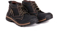 Do Bhai Woodshoe-black Boots Boots