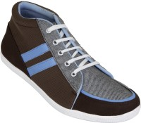 Zovi Brown And Blue Lace-up Casual Shoes
