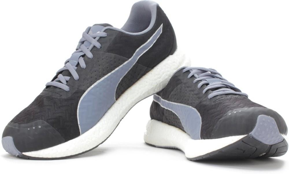 Puma Men Running Shoes Black Grey