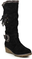 Stylistry Black Color Boots - SHOEFHQ4CFY9WFSB