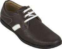 Zovi Brown Textured Casual Shoes