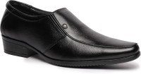 Feather Leather Genuine Leather Black Formal Shoes 034 Slip On Shoes Black