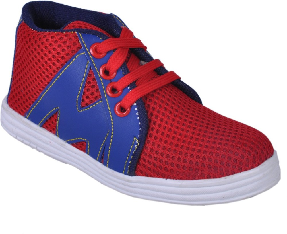 Snappy Blue Red Boys Casual Shoes