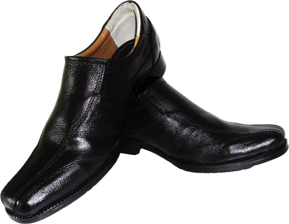 Crazy Hunt Business Black Slip On Shoes