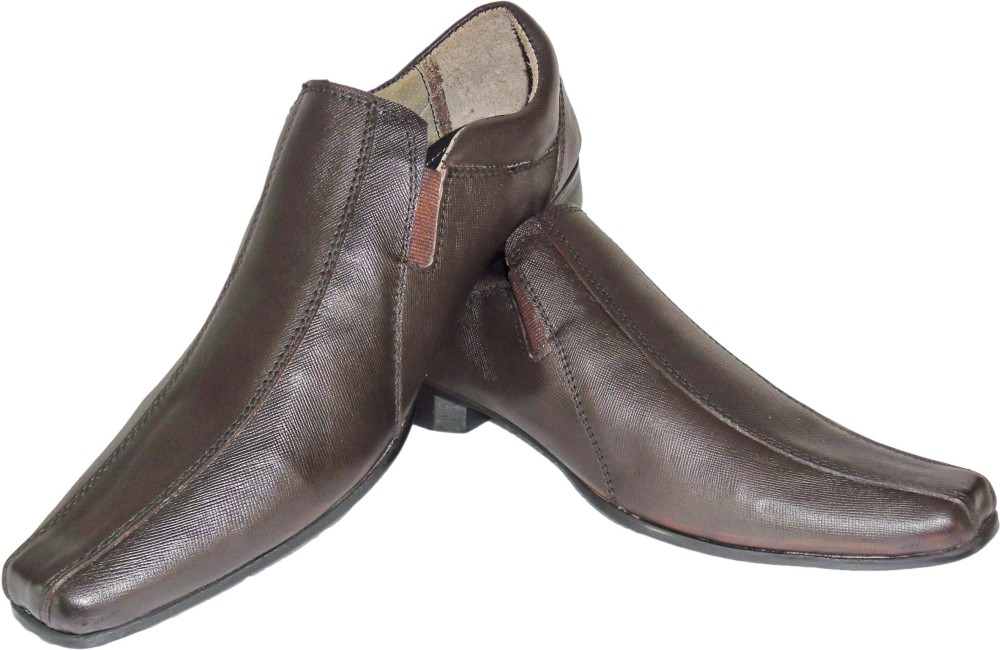 Crazy Hunt Brown Peak Slip On Shoes
