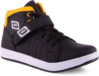 RED ROSE Men's Essence Yellow & Black Velcro Stylish Canvas Shoes