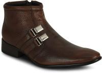 Kielz Kielz Tan Zipper Stylish Boots Boots Tan