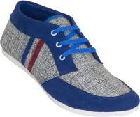 Zovi Blue And Grey With Stripes Casual Shoes