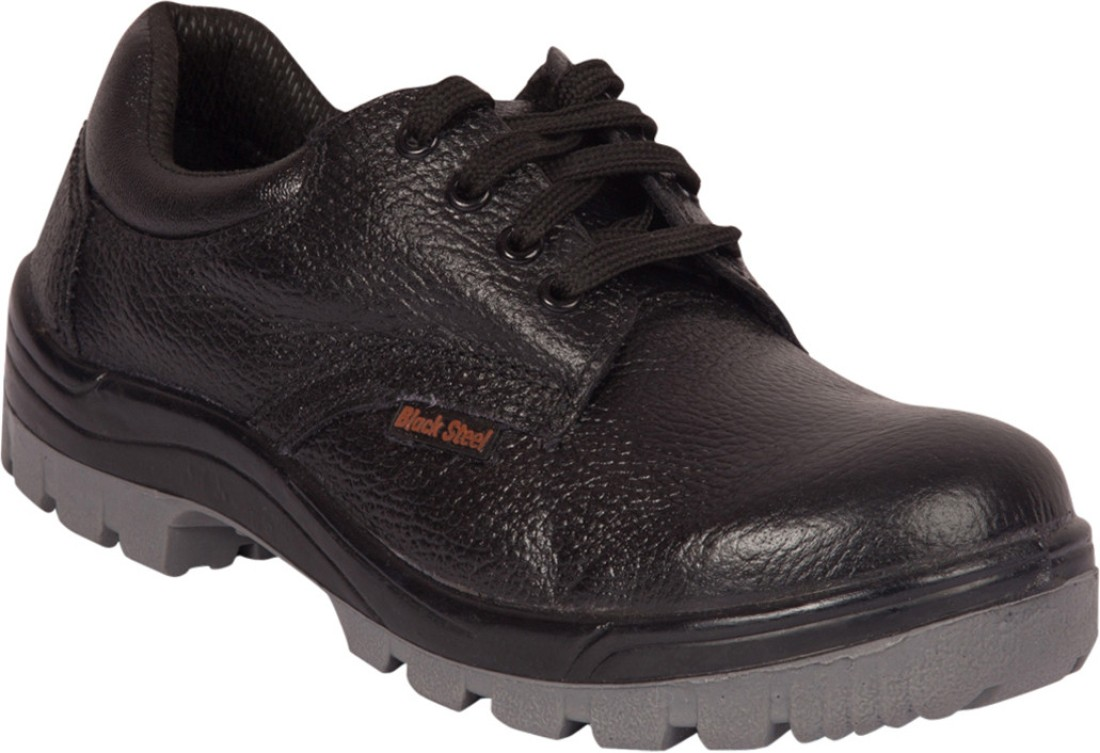 Safety Shoes Black Steel Lace Up - Buy Black Color Safety Shoes Black Steel Lace Up Online At ...