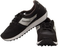 Goldstar Black Running Shoes