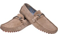 Hirel's Beige Driving Mocassion Loafers