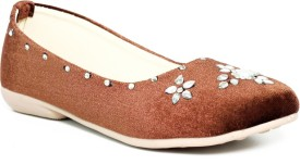 Just Flats Ladies Brown Colored Bellies by Just Flats Loafers