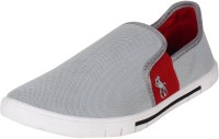 Chevit Men's Grey Red Loafers Loafers