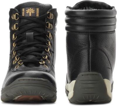 Buy Woodland Mid Ankle Sneakers (black