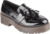 Truffle Collection Het6 Black Pat Corporate Casual Shoes