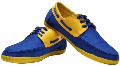 Guardian Royal Blue and Yellow Boat Shoes