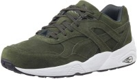 Puma R698 Allover Suede Mid Ankle Sneaker Olive