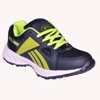 Hitcolus Navy Blue & P. Green Blue, Green Running Shoes