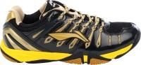Li-Ning Turbo 1.0 Badminton Shoes, Tennis Shoes Black, Gold