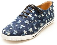 Marc Loire Marc Loire Women's Star Trail Blue Casual Lace Up Sneakers