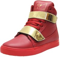 West Code West Code Men's Synthetic Leather Casual Shoes Gold-G-Red-7 Casuals