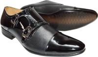 Stride M1423 Patent Dual Tone Monk Strap Shoes