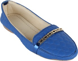 Authentic Vogue Blue With Buckle Loafers