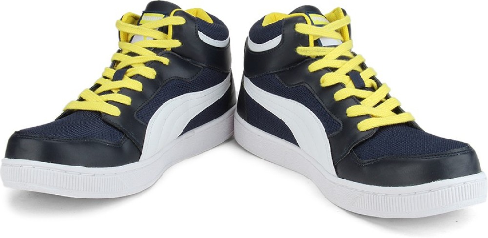 Puma Men Mid Ankle Sneaker Blue White