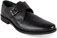 Red Chief Black Formal Shoes Monk Strap