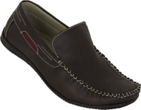 Zovi Brown With Prominent Stitch Detailing Loafers