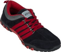 Zovi Black Men's With Stylized Red Running Shoes