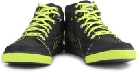 Puma Drongos DP Black-lime Punch-puma Silver High Ankle Sneakers