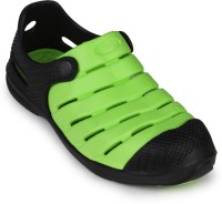 2B Collection Boys-Punch-Black-Green Clogs
