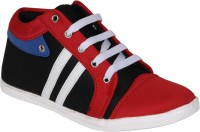 Hansx Youth Pulse Exotic Ankle Casual Footwear Casuals Black, Red