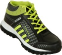 Zovi Black Sports With Neon Green And Silver Accents Running Shoes