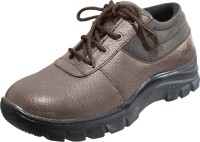 Feetway Genuine Leather Steel Toe Safety Corporate Casuals Brown