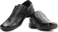 Red Tape Men Genuine Leather Slip On Shoes Black