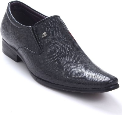 Shoe Centre Formals With Self Design Upper Slip On Shoes