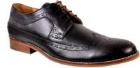 Hirel's Men's Black Leather Lace Up