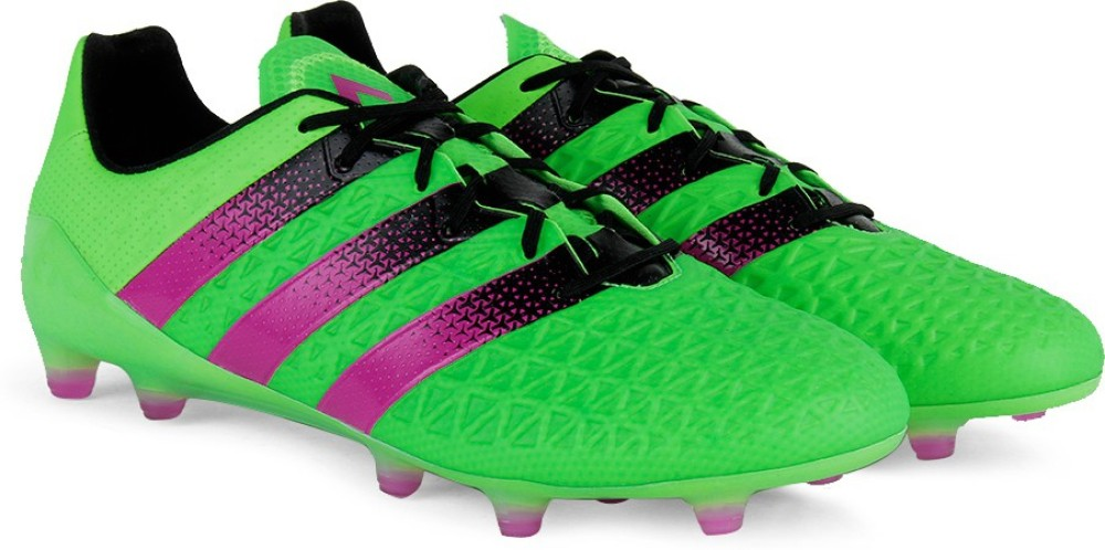Adidas ACE 161 FGAG Men Football Shoes Black Green Pink