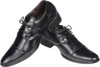Azzaro Black Genuine Leather Lucas Lace Up Shoes