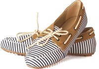 Vero Couture Stripes And Lace Casual Casuals