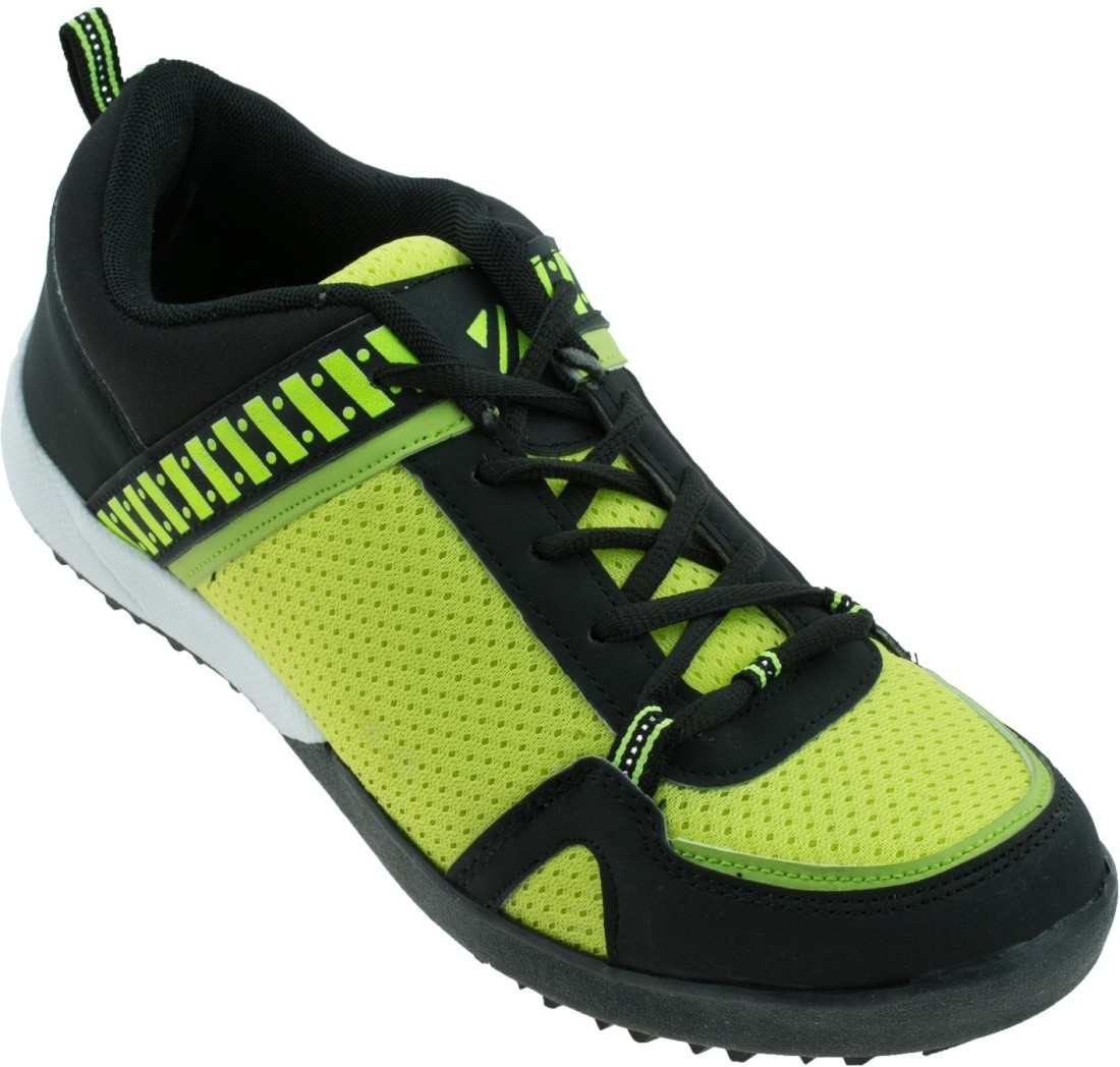 Zovi Green Mesh With Black Sports Running Shoes