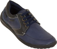 Zovi Blue And Black With Lacing Details Casual Shoes