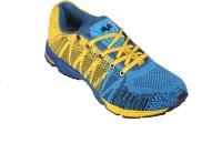 Vijayanti V-Knit Knitted Running Shoes Blue, Yellow