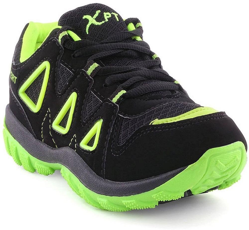 Xpert Fitter Black Green Running Shoes