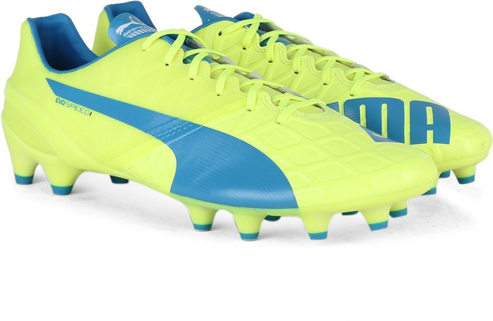 Puma evoSPEED 14 FG Men Football Studs Blue White Yellow